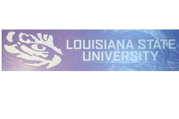 "LSU Tigers Louisiana State University Wincraft White Outline 3.5"" x 16"" Decal"