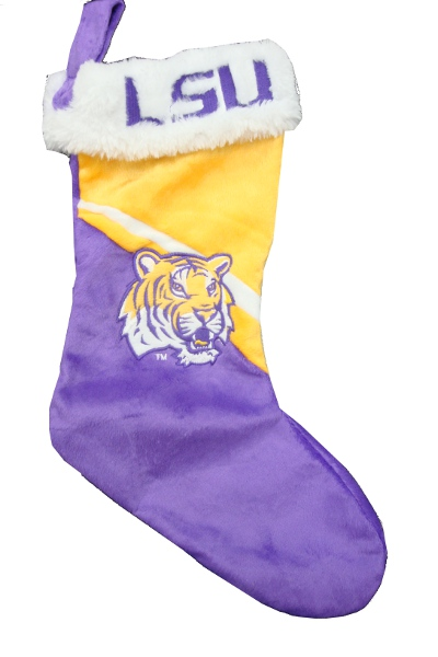LSU Tigers Plush Purple and Gold Christmas Stocking