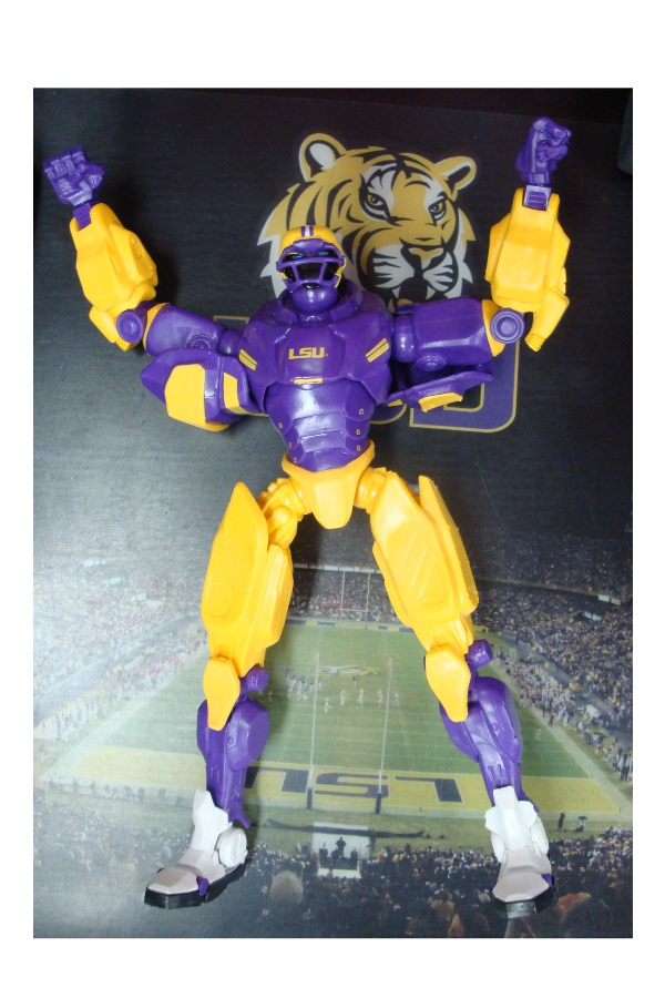 "LSU Tigers 10"" Team Cleatus Fox Sports Version 2.0 Robot Action Figure"