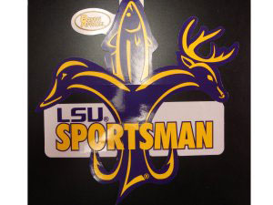 LSU Tigers Sportsman Fleur De Lis Decal