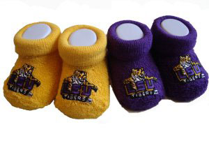 LSU Tigers Infant Gold and Purple Bootie Gift Set