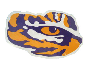 LSU Tiger Eye Decal 4""
