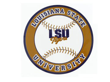 "LSU Tigers Baseball Magnet 6 1/4"" Diameter"
