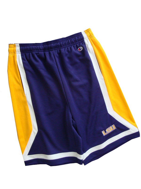 LSU Tigers Purple Gold and White Shorts