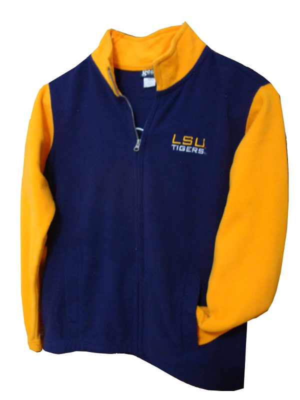 Gear LSU Tigers Youth Purple and Gold Fleece Zippered Jacket