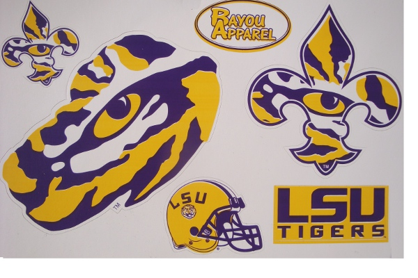 Bayou Apparel LSU Tigers 5 Die Cut Decal Medley