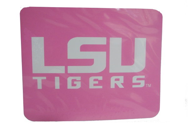 "Craftique LSU Tigers Hot Pink 3 1/2"" x 4 1/2"" Decal"