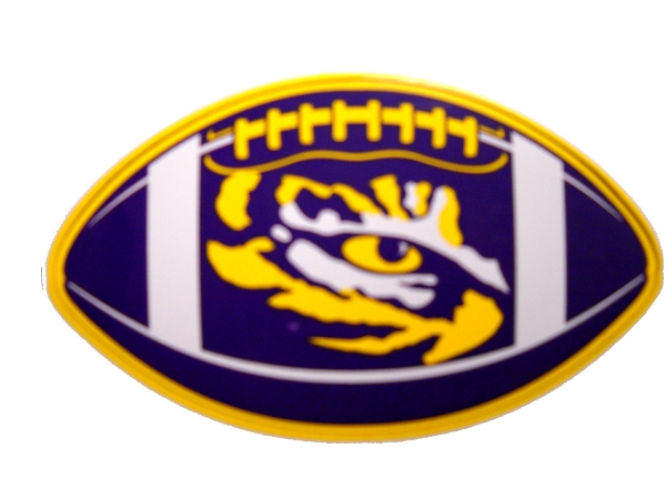 LSU Tigers Eye of the Tiger Football Magnet