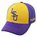 LSU Tigers Men's Top of the World Memory Fit 1Fit™ Hat - Purple and Gold