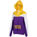 Zoozatz Unisex LSU Color Blocked Quarter Zip Wind Breaker