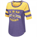 LSU Colosseum Women's Exaaactly! Vintage Purple & Gold Top