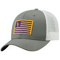 LSU Top of the World LSU White & Grey Flag Trucker Snap Back Hat