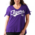 LSU Women's Purple First String Top by Alyssa Milano