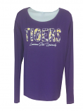 LSU Women's Long Sleeve Dolman Top - Purple