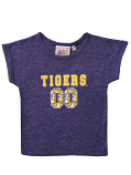 LSU Tigers Girl's Toddler Rolled Sleeve Top - Purple