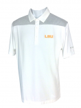 LSU Men's Columbia Golf Omni-Wick Utility Polo - White & Grey