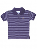 LSU Tigers Toddler's Purple and White Striped Polo