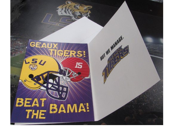 LSU Tigers Beat Bama Card