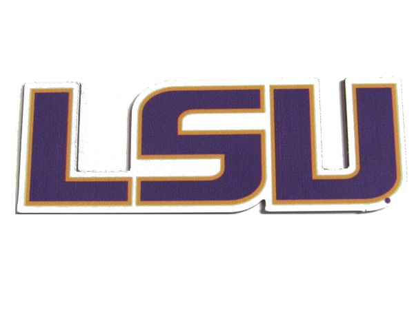 "LSU Tigers Small 1"" x 3"" LSU Auto Magnet"
