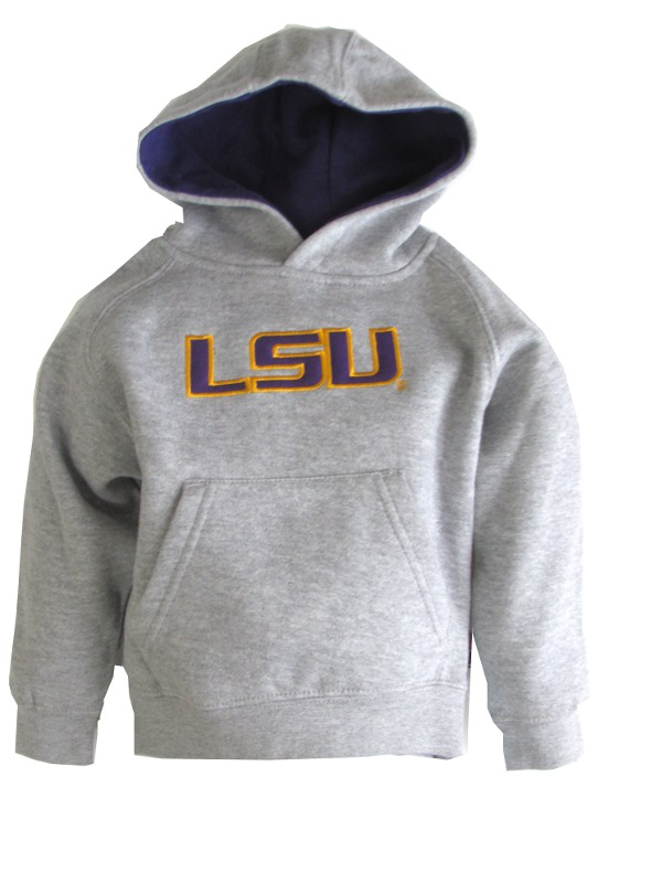 Genuine Stuff LSU Tigers Toddler, Child & Youth Tackle Twill Hoodie - Grey