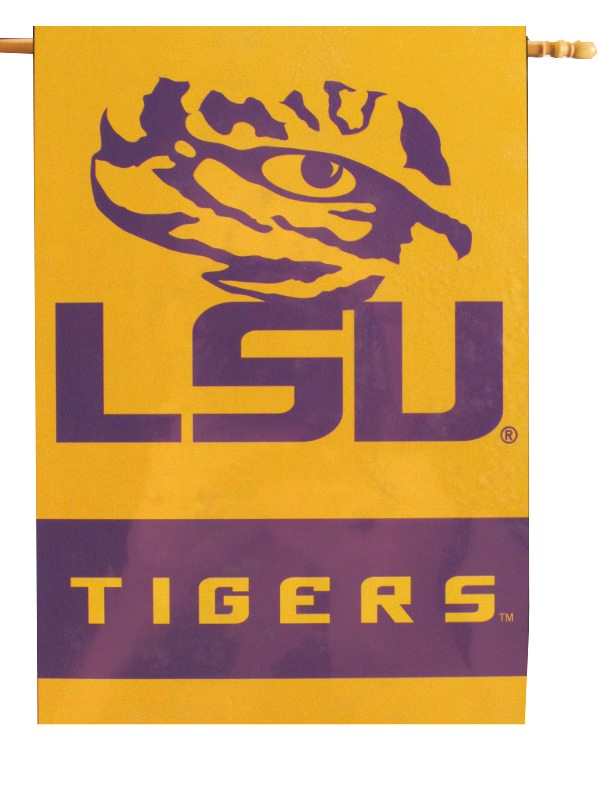 """LSU Tigers Premium 28"""" x 40"""" Two-Sided Tiger Eye Banner - Gold"""