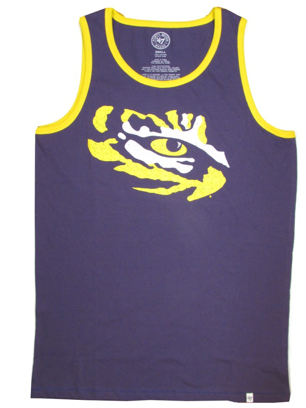 LSU Tigers Men's Purple and Gold Vintage College Vault Tiger Eye Tank