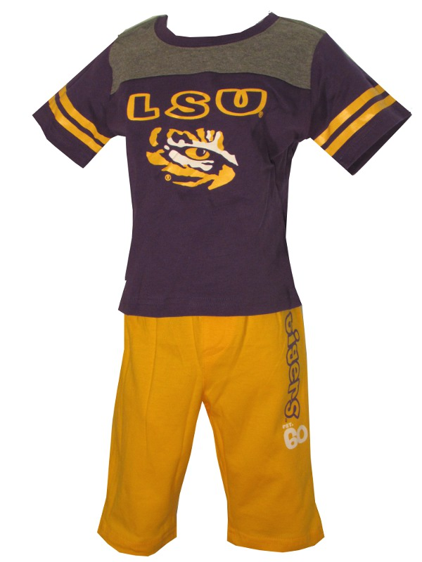 LSU Tigers INFANT Football Tiger Eye T-Shirt and Pant Set
