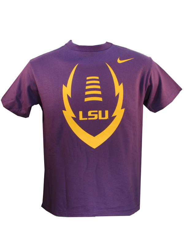 Nike LSU Tigers Youth Purple Icon Football T-Shirt