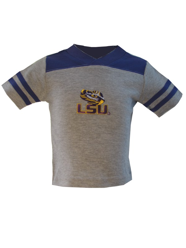 LSU Tigers INFANT & TODDLER Purple and Grey Football Jersey