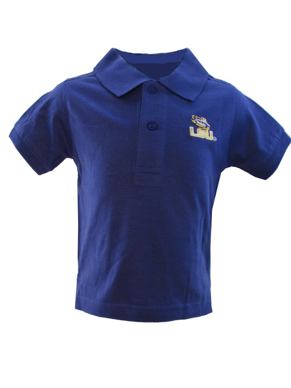 LSU Tigers INFANT & TODDLER Purple Tiger Eye Logo Polo