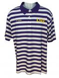 Columbia LSU Men's  Super Low Drag Omni-Shade Polo - Purple & White