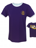LSU Women's Ringer Tee - Purple