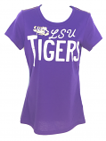LSU Tigers Women's In the Stands Tee - Purple
