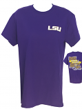 LSU Women's Bayou Tailgate Cotton T-Shirt - Purple