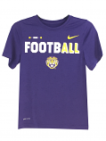 LSU Boy's Legend Football Dri-Fit Short Sleeve Tee - Purple