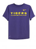 Nike LSU Boy's Purple Performance Tee