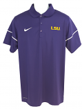 Nike LSU Men's Dri-Fit Team Issue Polo - Purple