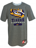 Nike LSU Men's Retro 97 Tiger Eye Football T-Shirt - Dark Heather Grey