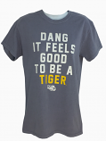 LSU Women's Lilac Grey Dang It Feels Good To Be A Tiger Tee