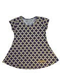 LSU Girl's Laurie Twirl Top - Purple, Gold & White