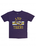 LSU Boy's Vintage Short Sleeve Blend T-Shirt - Purple