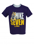LSU Boy's Youth Mike Seven Ultra-Cotton T-Shirt - Purple
