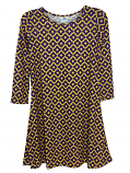 Game Day Girl's Vivi Performance Twirl Dress - Purple & Gold