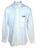 LSU Tigers Antigua Men's Dynasty Button Down Shirt - White