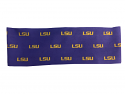 LSU Repeat Logo Stretch Headband - Purple & Gold