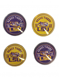 LSU Tigers 4-Pack Pride Refrigerator Magnets