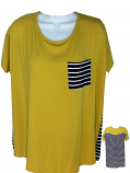 LSU Women's Color Block Striped Top - Gold, Purple and White