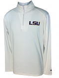 LSU Men's 1/4 Zip Llightweight Performance Pullover - White