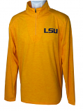 LSU Men's Tonal Blend 1/4 Zip Llightweight Performance Pullover - Gold