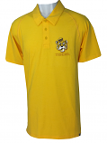 LSU Men's Vintage Tri-Blend Beanie Tiger Polo - Gold